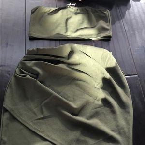 nasty gal skirt and top set